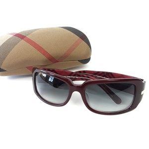 Vintage Burberry Burgundy Square Sunglasses